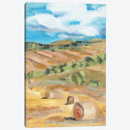 Hay Bales II Canvas Print #WNG1367} by Melissa Wang Canvas Artwork