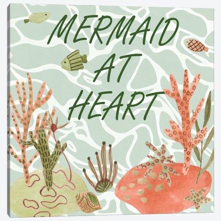 Mermaid At Heart I Canvas Print #WNG1398} by Melissa Wang Canvas Art