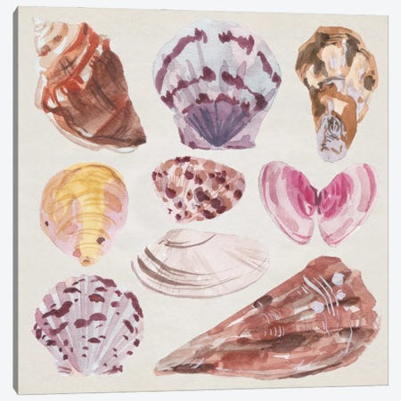 Ocean Sounds I Canvas Print #WNG1412} by Melissa Wang Art Print