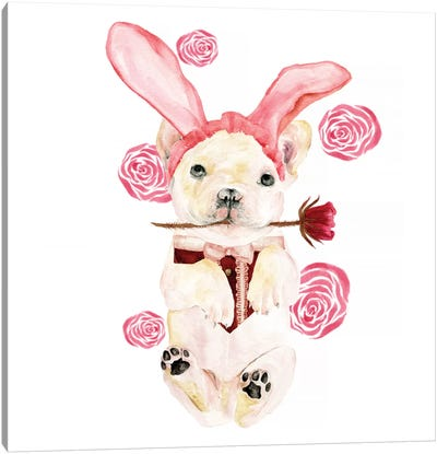 Valentine Puppy I Canvas Art Print