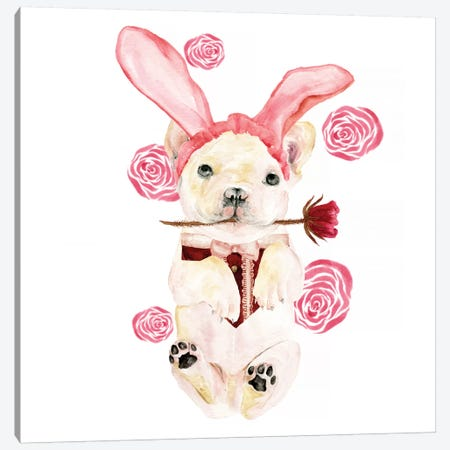 Valentine Puppy I Canvas Print #WNG145} by Melissa Wang Canvas Art