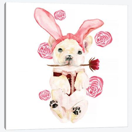 Valentine Puppy I Canvas Print #WNG145} by Melissa Wang Canvas Art