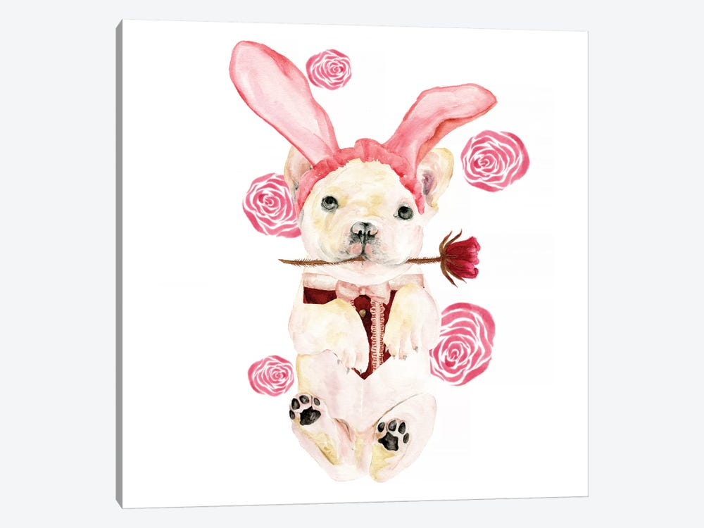 Valentine Puppy I by Melissa Wang 1-piece Canvas Art Print