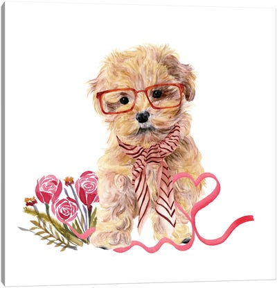 Valentine Puppy II Canvas Art Print