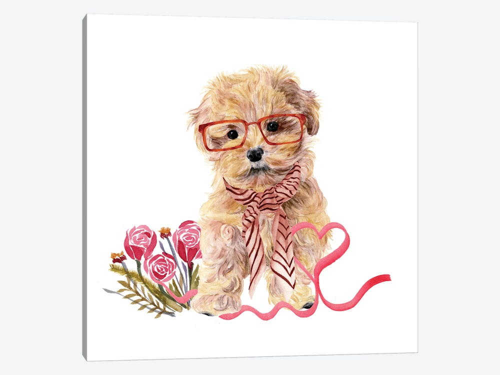 Valentine Puppy II by Melissa Wang 1-piece Canvas Wall Art