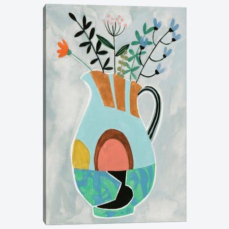 Collage Vase III Canvas Print #WNG1470} by Melissa Wang Art Print