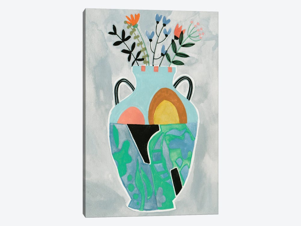 Collage Vase IV by Melissa Wang 1-piece Canvas Artwork