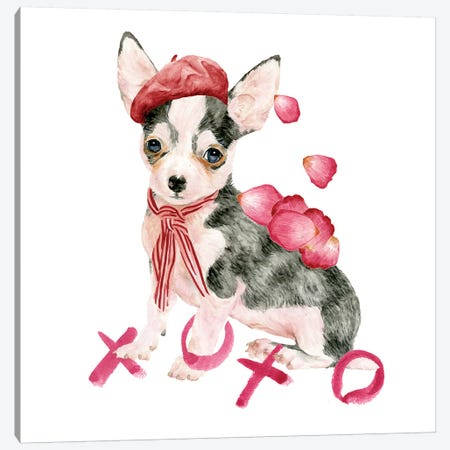 Valentine Puppy III Canvas Print #WNG147} by Melissa Wang Canvas Artwork