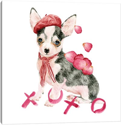 Valentine Puppy III Canvas Art Print