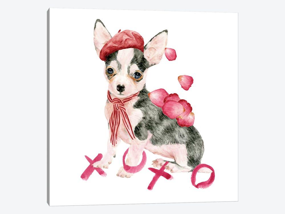 Valentine Puppy III by Melissa Wang 1-piece Canvas Print