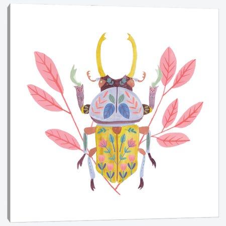 Floral Beetles II Canvas Print #WNG1485} by Melissa Wang Canvas Art Print