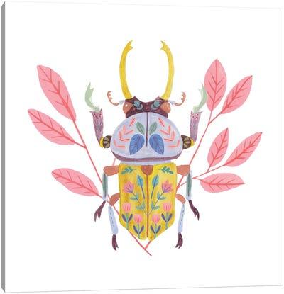 Floral Beetles II Canvas Art Print