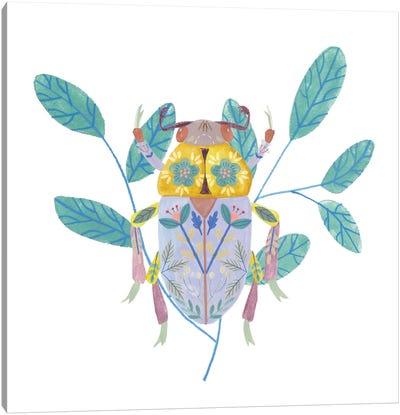 Floral Beetles III Canvas Art Print
