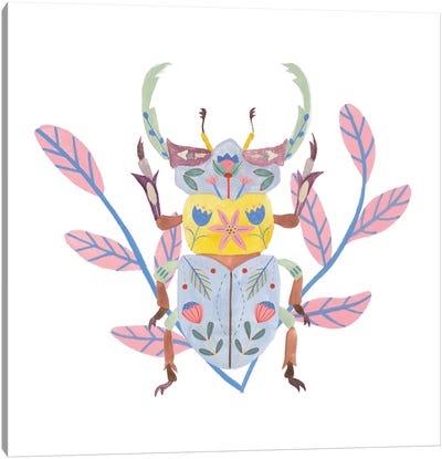 Floral Beetles IV Canvas Art Print