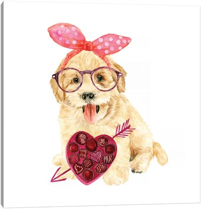 Valentine Puppy IV Canvas Art Print