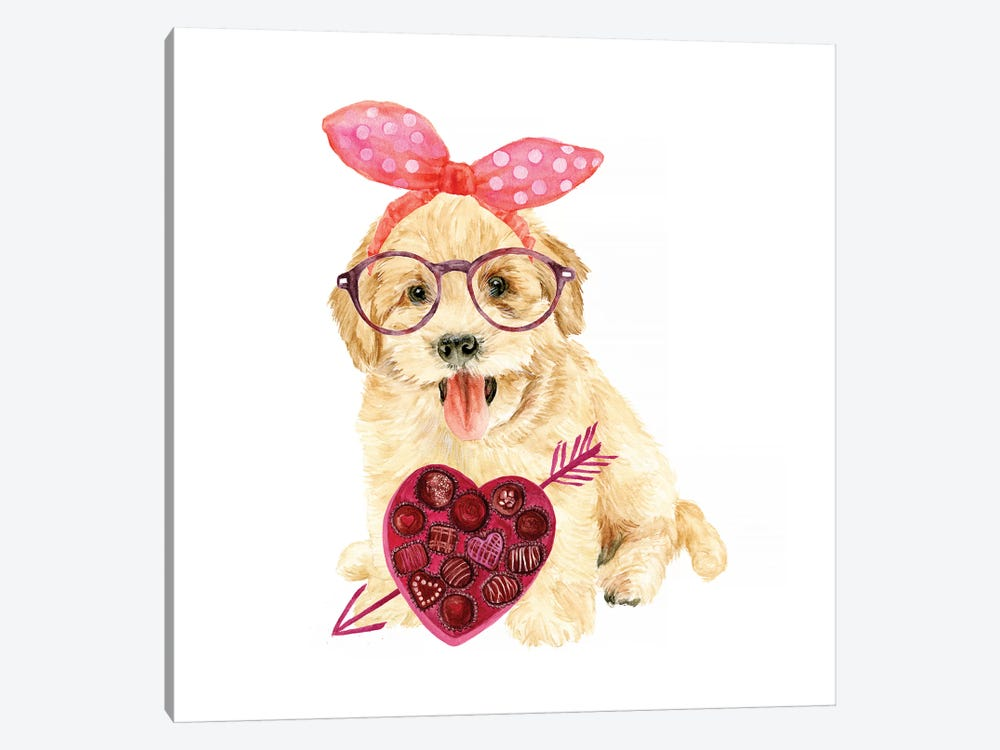 Valentine Puppy IV by Melissa Wang 1-piece Canvas Art