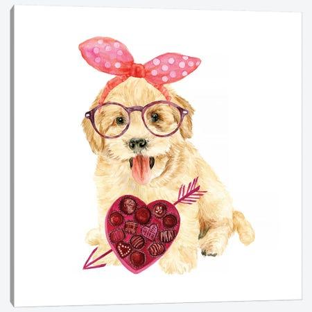 Valentine Puppy IV Canvas Print #WNG148} by Melissa Wang Art Print