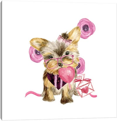 Valentine Puppy VI Canvas Art Print