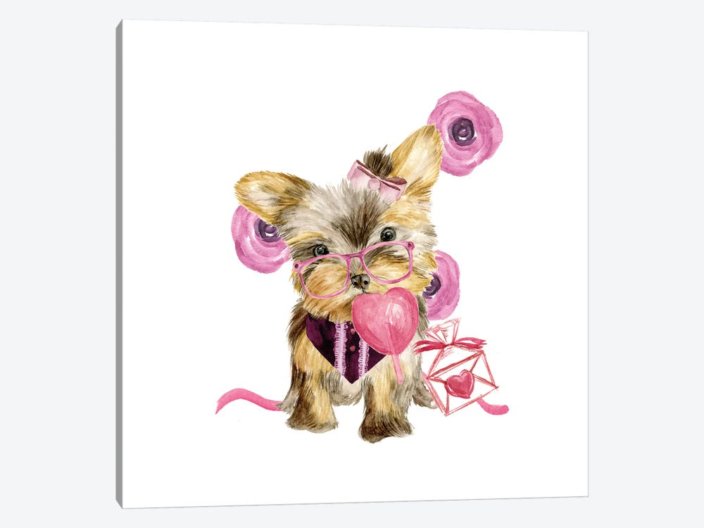 Valentine Puppy VI 1-piece Canvas Print
