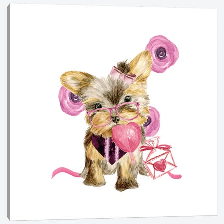 Valentine Puppy VI Canvas Print #WNG150} by Melissa Wang Canvas Artwork