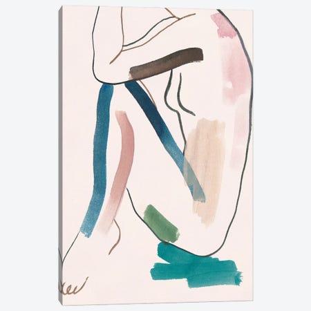 Seated Female Figure VI Canvas Print #WNG1514} by Melissa Wang Canvas Art Print