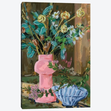 Still Life Bouquet I Canvas Print #WNG1515} by Melissa Wang Art Print