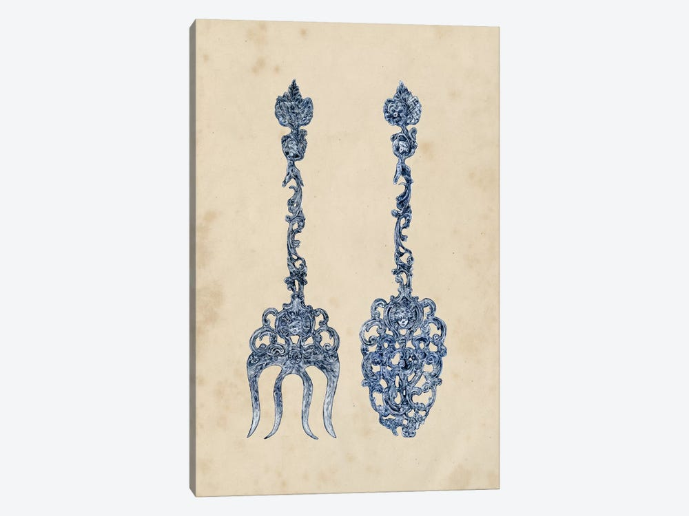 Antique Utensils I by Melissa Wang 1-piece Canvas Wall Art