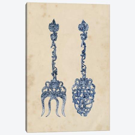 Antique Utensils I Canvas Print #WNG151} by Melissa Wang Canvas Artwork