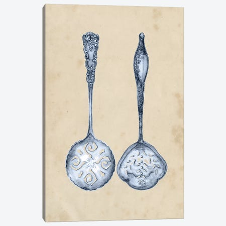 Antique Utensils IV 3-Piece Canvas #WNG154} by Melissa Wang Canvas Print