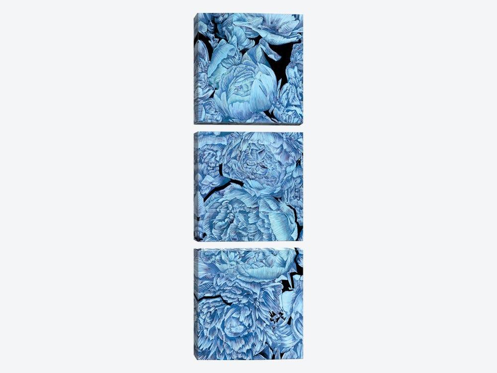 Blue Peonies II by Melissa Wang 3-piece Art Print
