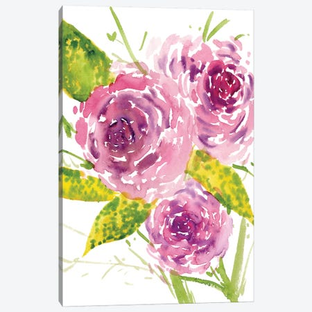 Bouquet Rose I Canvas Print #WNG172} by Melissa Wang Canvas Wall Art