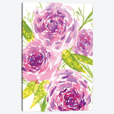 Bouquet Rose II Canvas Print #WNG173} by Melissa Wang Canvas Wall Art