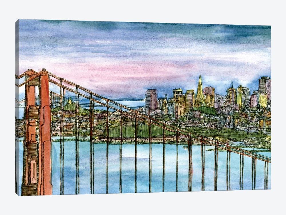 Coast to Coast II by Melissa Wang 1-piece Canvas Artwork