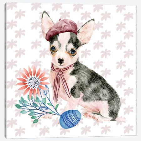 Easter Pups II Canvas Print #WNG187} by Melissa Wang Canvas Artwork