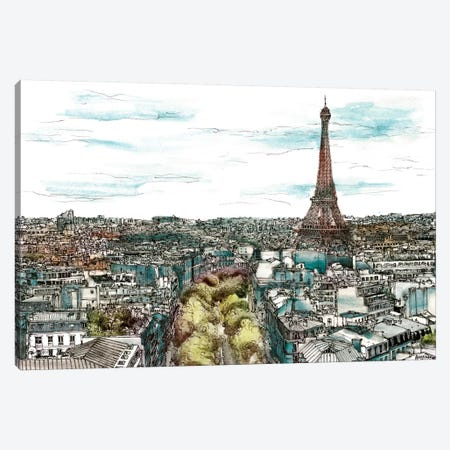 European Afternoon I Canvas Print #WNG190} by Melissa Wang Canvas Art