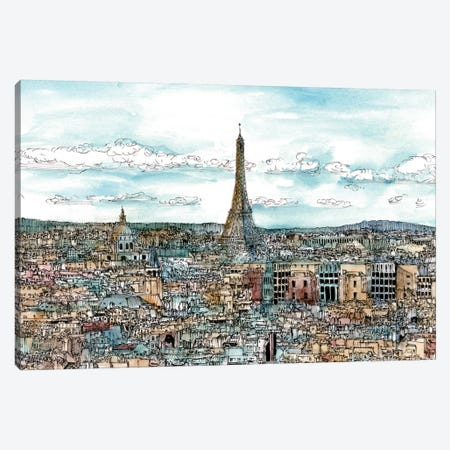 European Afternoon II Canvas Print #WNG191} by Melissa Wang Canvas Art