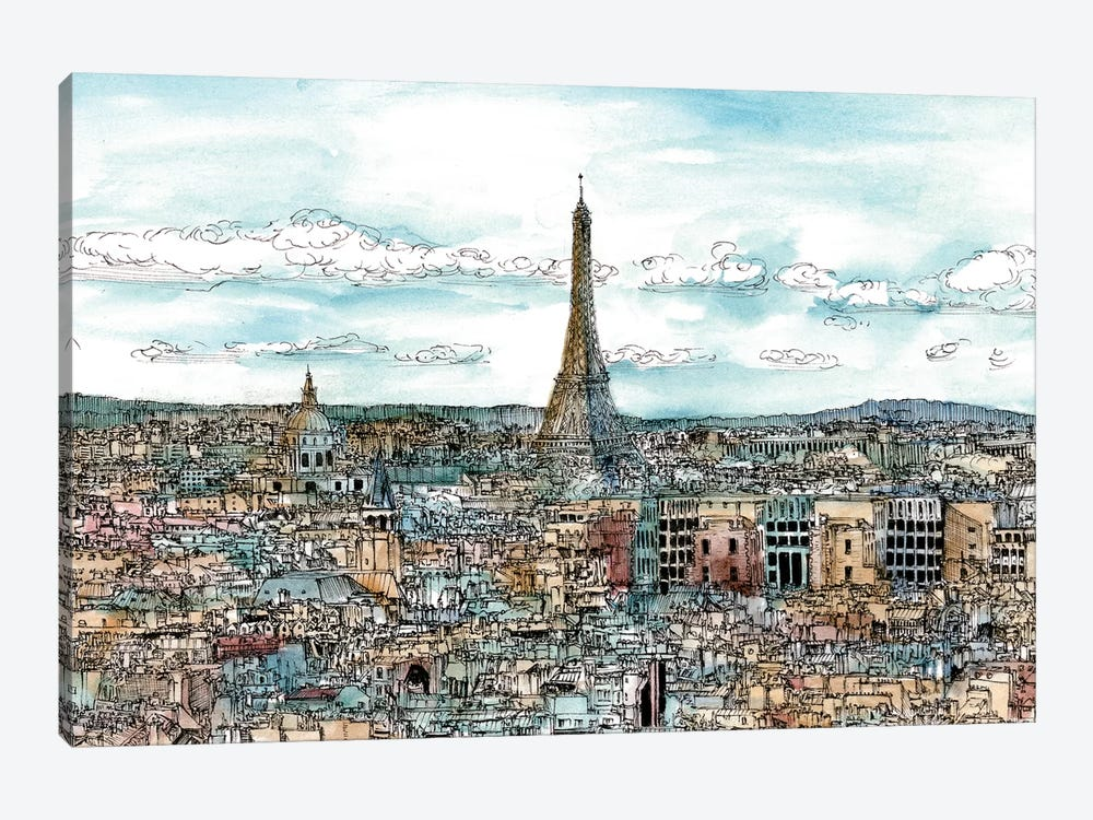 European Afternoon II by Melissa Wang 1-piece Canvas Art