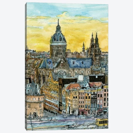European Afternoon V Canvas Print #WNG194} by Melissa Wang Art Print