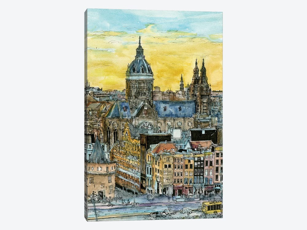 European Afternoon V 1-piece Art Print