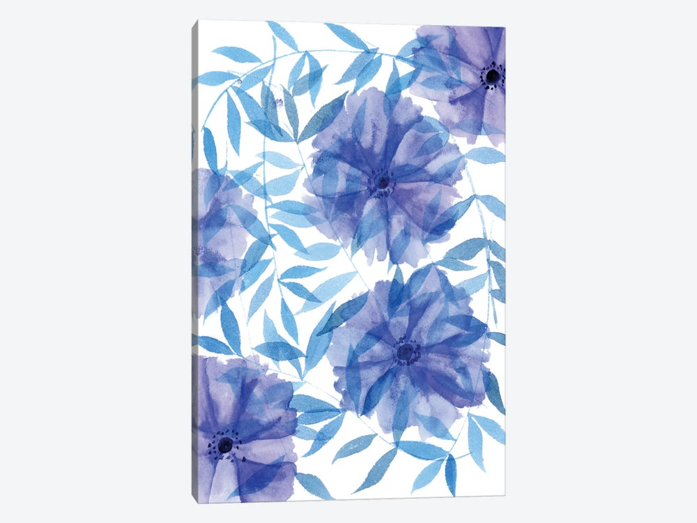 Midnight Flowers I by Melissa Wang 1-piece Canvas Art Print
