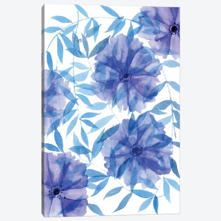 Midnight Flowers I Canvas Print #WNG227} by Melissa Wang Canvas Print