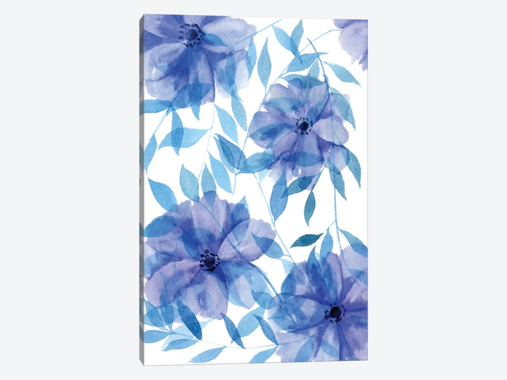 Midnight Flowers II by Melissa Wang 1-piece Canvas Wall Art
