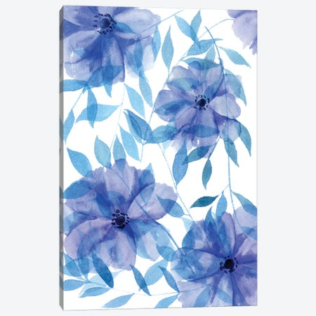 Midnight Flowers II Canvas Print #WNG228} by Melissa Wang Canvas Art