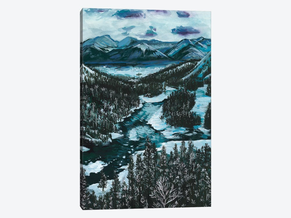 Mountainscape I by Melissa Wang 1-piece Canvas Art Print