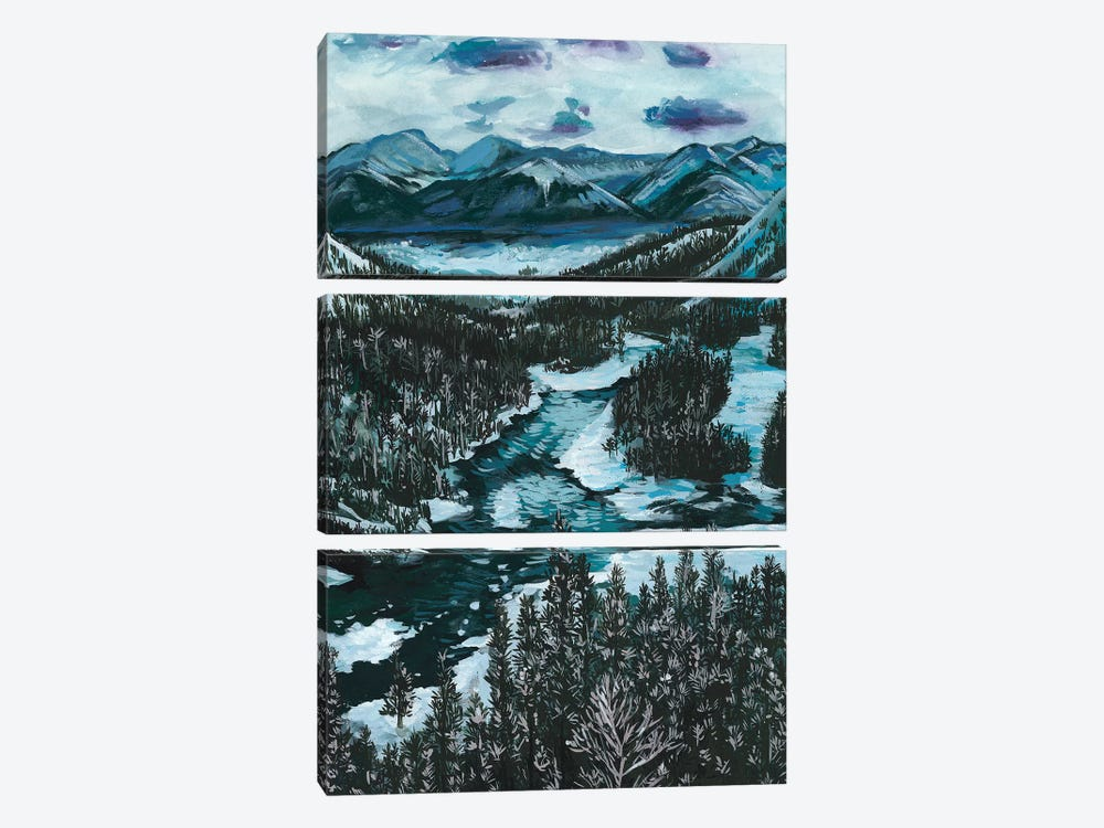 Mountainscape I by Melissa Wang 3-piece Canvas Art Print