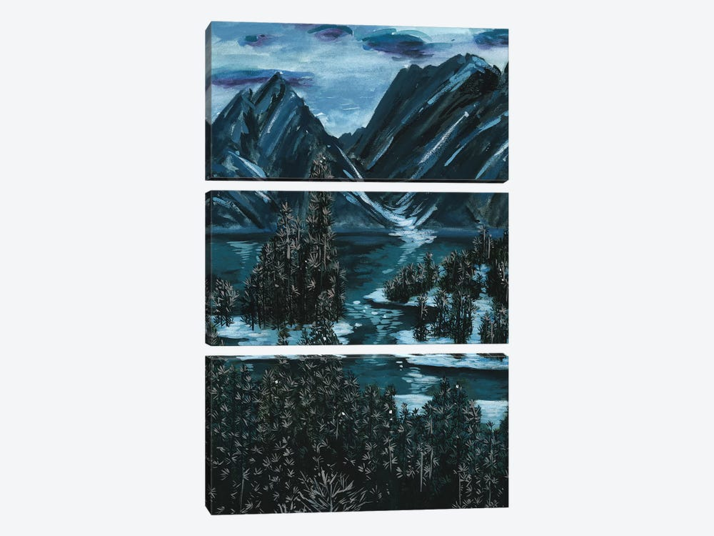 Mountainscape II by Melissa Wang 3-piece Canvas Art Print