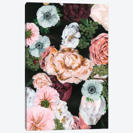 Noir Arrangement I Canvas Print #WNG233} by Melissa Wang Art Print