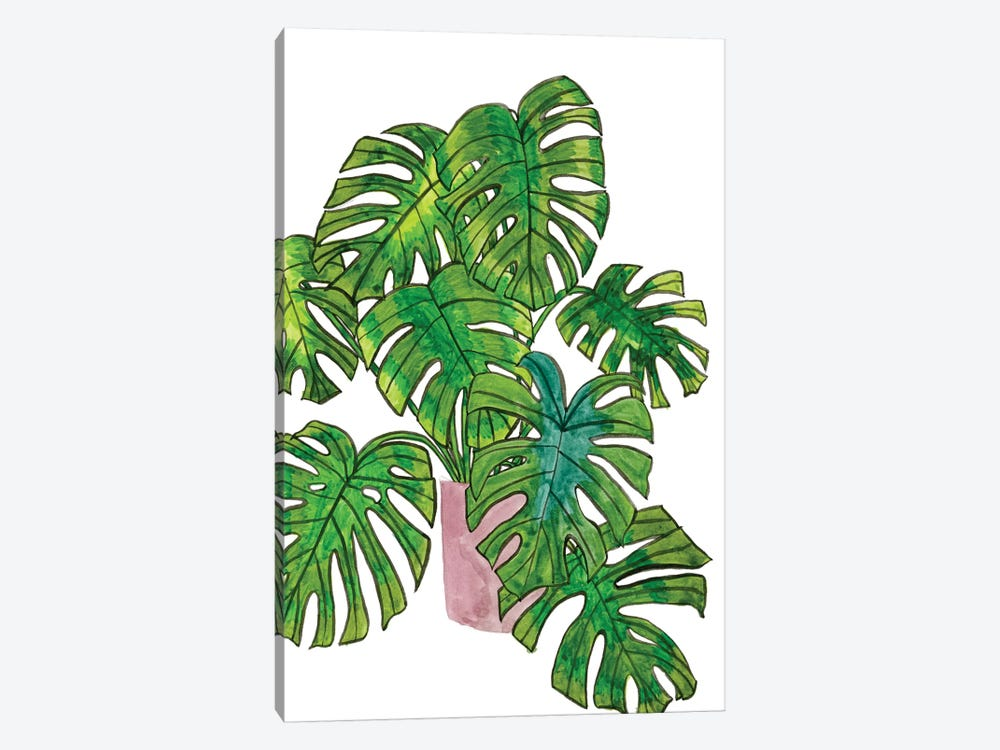 Potted Jungle I 1-piece Canvas Wall Art