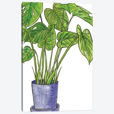 Potted Jungle III Canvas Print #WNG237} by Melissa Wang Canvas Art