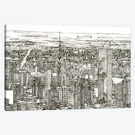 Skyline Sketch I 3-Piece Canvas #WNG245} by Melissa Wang Canvas Print